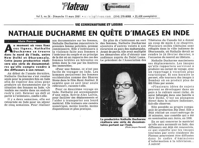 nathalie ducharme, réalisatrice, cinéaste québécoise, productrice et scénariste. documentariste, documentaire. yvan ducharme