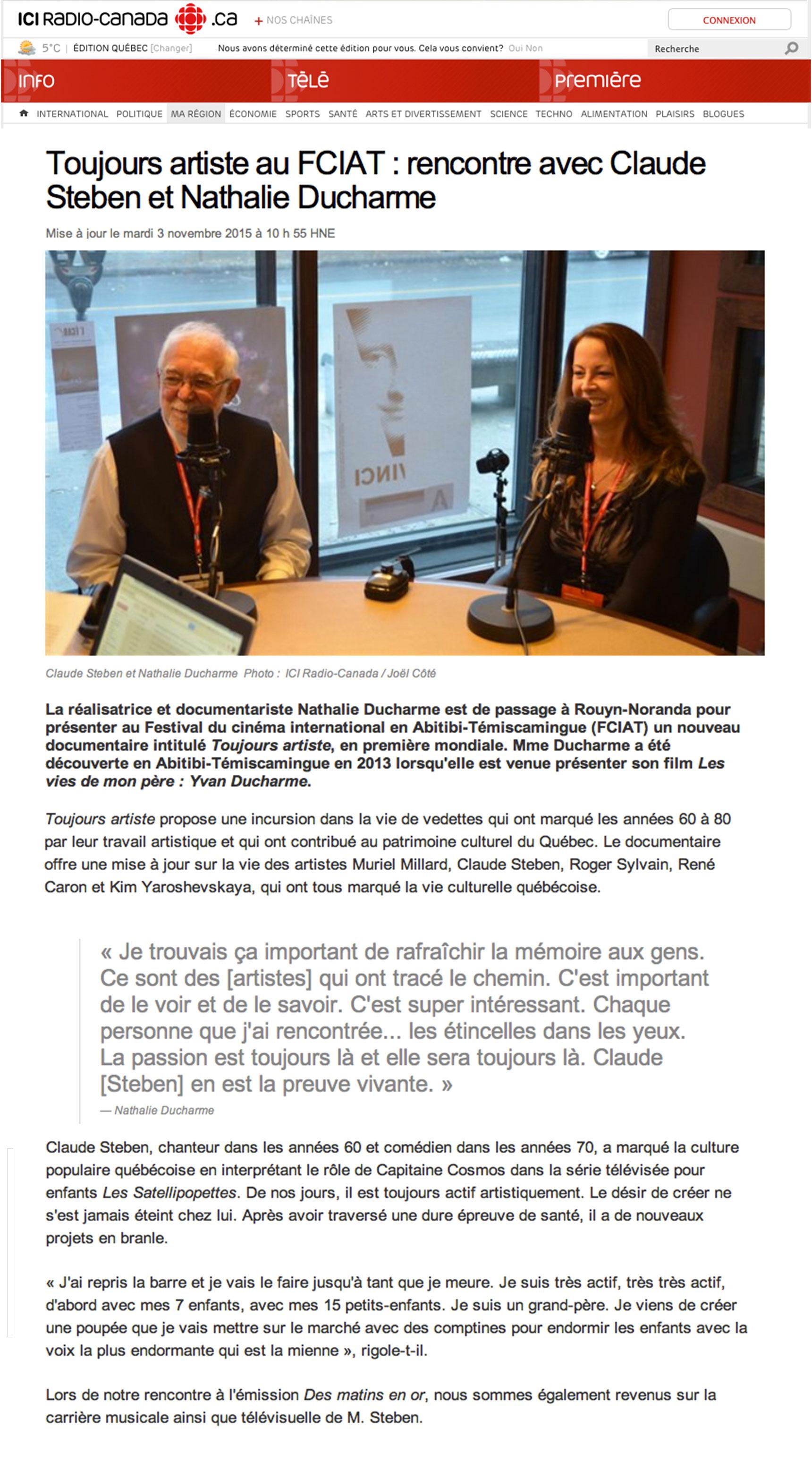 émission rencontres radio-canada